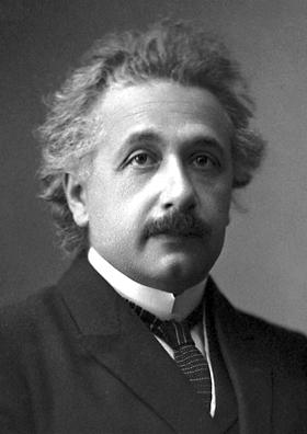 Albert Einstein (Fuente: Wikimedia Commons https://upload.wikimedia.org/wikipedia/commons/5/50/Albert_Einstein_(Nobel).png )